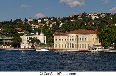 Building in Bosphorus Strait Side of Istanbul, Turkey