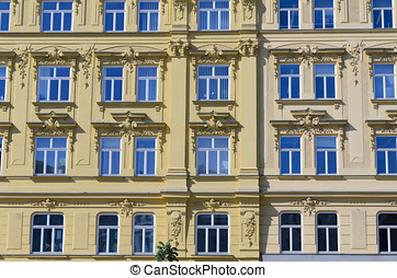 Building in Namesti Svobody - Reflective windows on old...