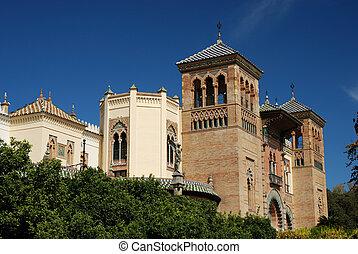 Beautiful building in Seville, Spain