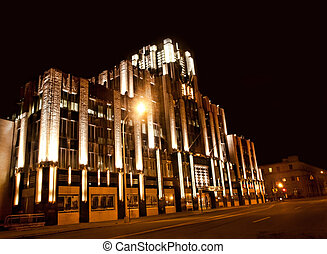 building in syracuse, new york - the beautifully lit niagara...