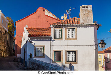 Building in the center of Sintra, Portug