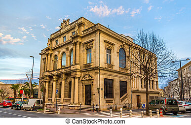 Building in the city center of Beziers - France