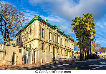 Building in the city center of Montpellier - France, Languedoc-R