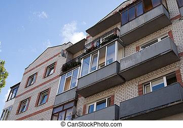 Building in the city of Kaliningrad