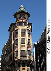Building in the city of Malaga, Andalusia Spain