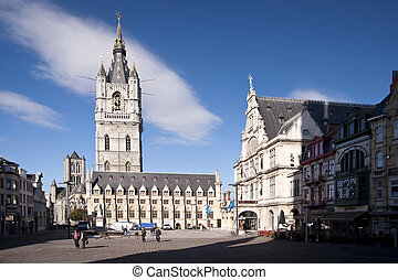 ghent - building in the old town of ghent, belgium