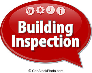 Building Inspection  blank business diagram illustration