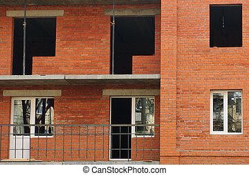 Building. Installation of plastic windows.