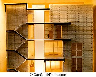 building interior - building section interior in model