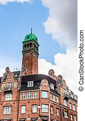 Building is situated on City Hall Square in Copenhagen, Denmark
