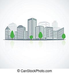 Building landscape emblem