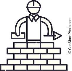 Building line icon concept. Building vector linear illustration, symbol, sign