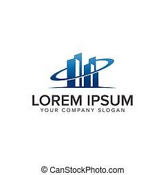 building logo design concept template. Architectural Construction logo design concept template