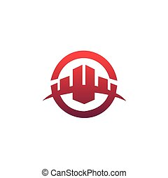 building logo design concept template. Architectural Constructio