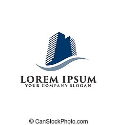 building logo design concept template. Architectural Construction logo.