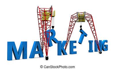 Building Marketing Text 3d - Building Marketing Text 3d...