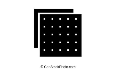 building material layer animated glyph icon. building material layer sign. isolated on white background