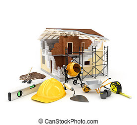 building materials - Architecture model house showing ...