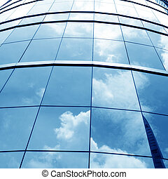 Building mirror glass wall
