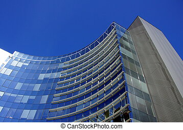Building - Modern office high building is constructed of...