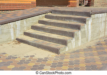 Building new house entry steps.