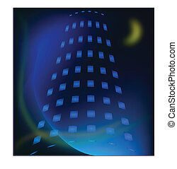Building night view vector
