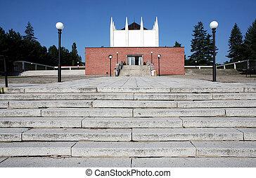Building of crematorium