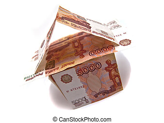 Building of Russian banknotes