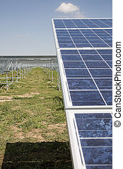 Building of solar power plant - Solar power plant in...