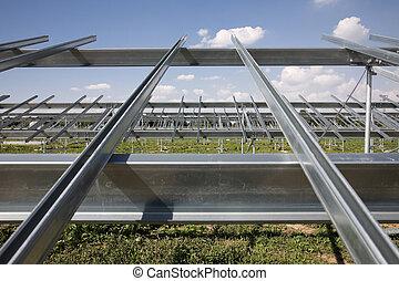 Building of solar power plant - Construction of solar power...