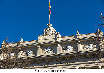 Building of Stock Exchange in City of Madrid