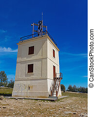 Building of the first optical telegraph of Spain 1846