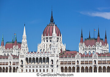 building of the Hungarian parliament in Budapest, Hungary