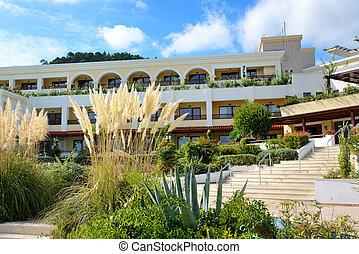 Building of the luxury hotel, Halkidiki, Greece