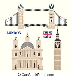 Building of United Kingdom, London travel icon landmark....