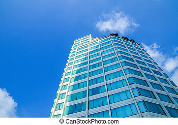 Building on blue sky