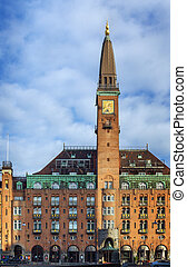 building on City Hall Square in central Copenhagen.