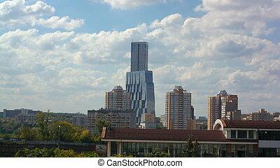 building on sky background