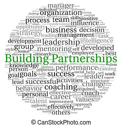 Building Partnerships concept in word tag cloud on white...