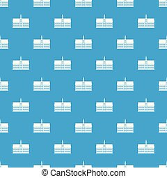 Building pattern vector seamless blue