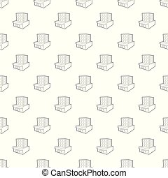 Building pattern vector seamless