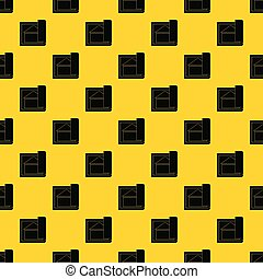 Building plan pattern vector