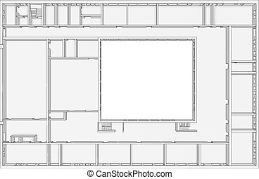 Building plan clip art vector Search Drawings and Graphics Images