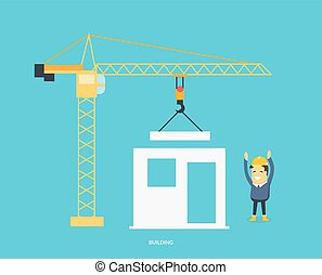 Building Process Flow - Building process. Success engineer....