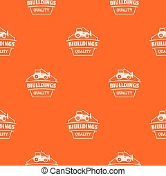 Building quality pattern vector orange