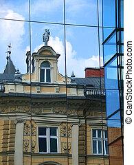 Building reflection, Ljubljana