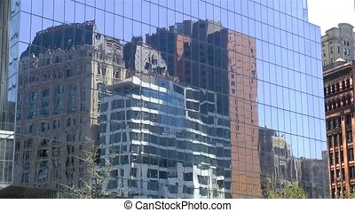 Building reflection, New York.