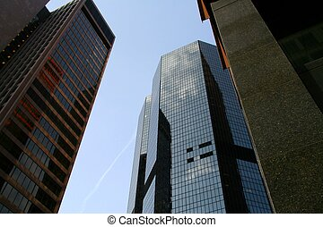 Building Reflections - Looking up at Buildings with...