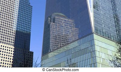 Building reflections, New York.