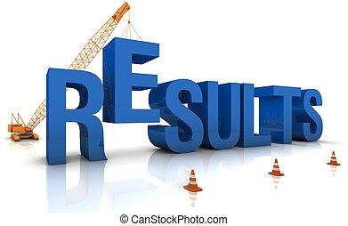 Building Results - Construction site crane building a blue...